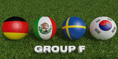 Football World cup  groups f.  2018 world soccer tournament  in Russia.