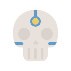 Tribal Ethnic Skull Bone. Native American Indian Theme. Day of the Dead.
