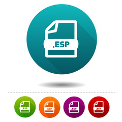 Image file icon. Download ESP symbol sign. Web Button.