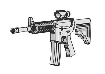 sketch of military vector weapon
