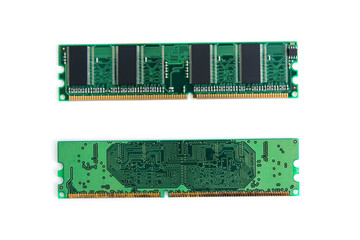Wall Mural - RAM Stick of computer (random access memory) isolated on white. with clipping path