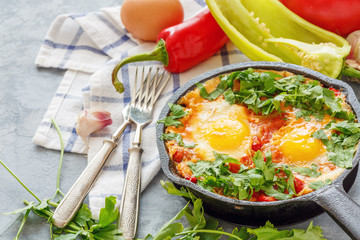 Shakshuka is a traditional middle Eastern dish.