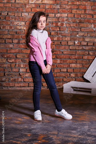 829774180278 Stylish young teen girl with beautiful face