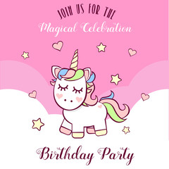 Unicorn invitation