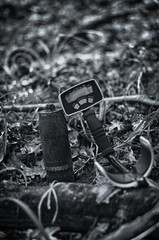 Bomb found in the woods by a metal detector