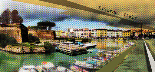 Livorno, Italy , post card