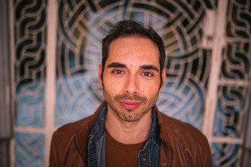portrait of dark-haired caucasian man