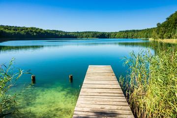Fototapete - Landschaft am Trünnensee an der Mecklenburger Seenplatte