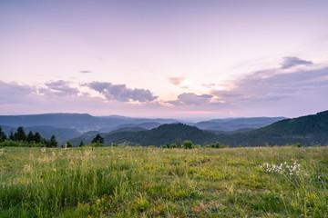 Fototapete - Sonnenuntergang Schwarzwald