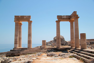 the Acropolis on the island of Lindos