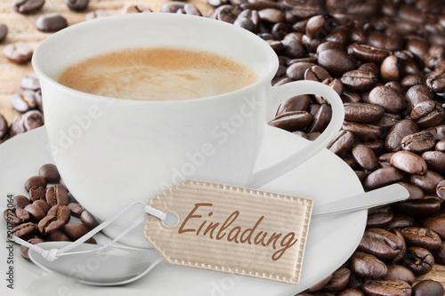 Kaffee - Einladung Stockfotos und lizenzfreie Bilder auf