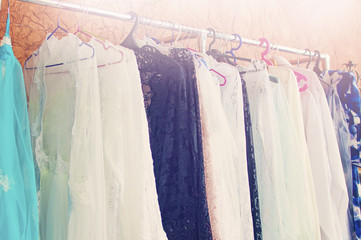 clothes hanging on a hanger