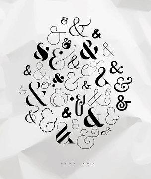 Poster symbol ampersand