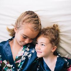 Sisters Snuggling