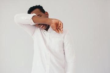 Studio portrait of black male model