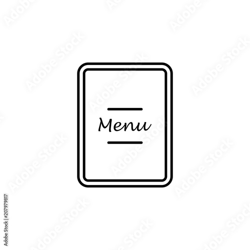 restaurant menu outline icon element of kitchen tools icon for