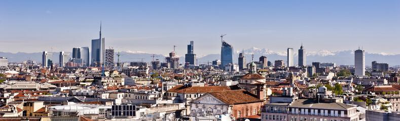 Skyline in Milan, Italy