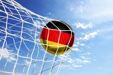 Fussball mit deutscher Flagge