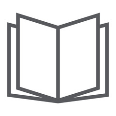 Open book line icon, school and education, knowledge sign vector graphics, a linear pattern on a white background, eps 10.