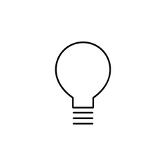 bulb outline icon. Element of simple education icon for mobile concept and web apps. Thin line bulb outline icon can be used for web and mobile