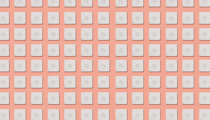 White blanco floppy disks pattern