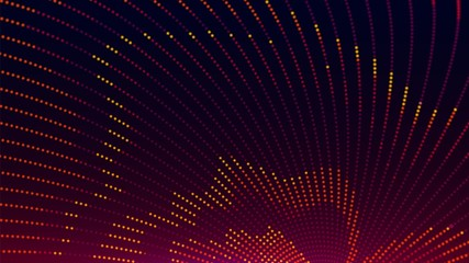 LED color background. Colorful abstract background with dots. Disco wall. Vector illustration.