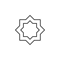 eight-pointed star outline icon. Element of religion sign for mobile concept and web apps. Thin line eight-pointed star outline icon can be used for web and mobile