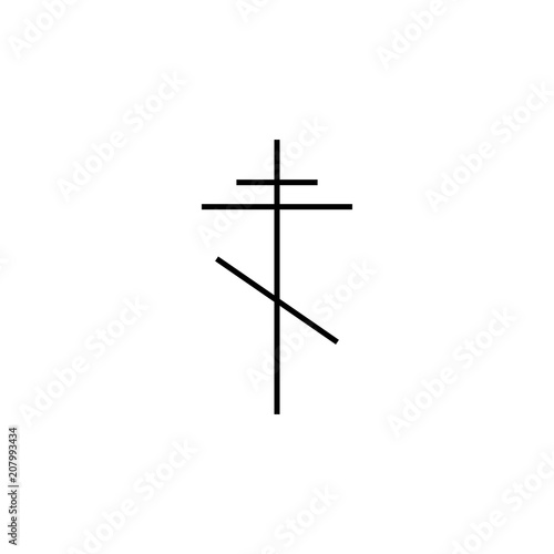 cross orthodox outline icon  Element of religion sign for