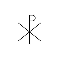 Chi rho outline icon. Element of religion sign for mobile concept and web apps. Thin line Chi rho outline icon can be used for web and mobile