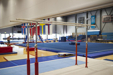 Gymnastic equipment in a gymnastic center