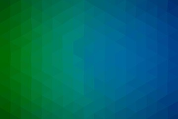 Abstract blue green business vector background with triangles