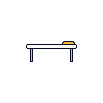 a massage table outline icon. Element of colored spa icon for mobile concept and web apps. Thin line a massage table outline icon can be used for web and mobile