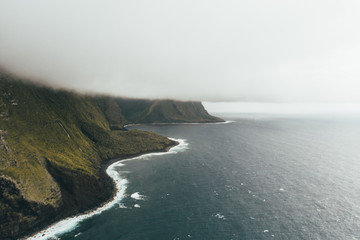 Hawaii landscape from an helicopter shot