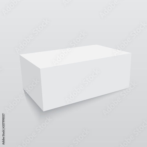 Blank Paper Or Cardboard Box Template Vector Illustration