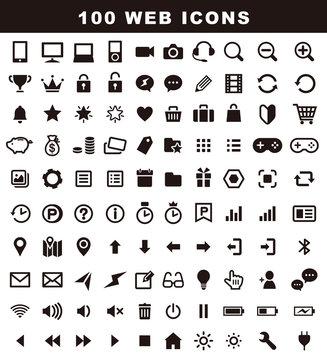 ウェブアイコンセット 100種類