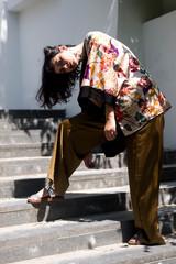 Portrait of stylish woman
