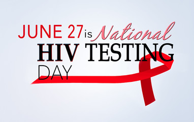 Hiv testing day, June 27.