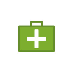 first-aid kit colored illustration. Element of camping icon for mobile concept and web apps. Flat design first-aid kit colored illustration can be used for web and mobile