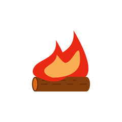 bonfire colored illustration. Element of camping icon for mobile concept and web apps. Flat design bonfire colored illustration can be used for web and mobile. Premium icon