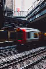 London Tube Speeding Past