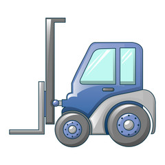 Forklift tractor icon. Cartoon of forklift tractor vector icon for web design isolated on white background