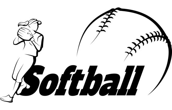 Softball Throw with Text Banner