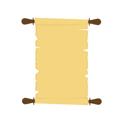 Vector illustration of old paper scroll isolated on white background.