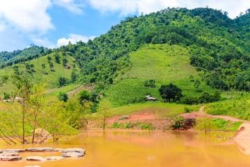 Stunning Landscape in Northern Vietnam. Moc Chau Plateau, Son La province, Vietnam