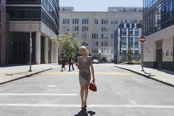 Elegant Transgender Businesswoman Walking on the Streets Of New