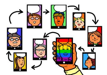 Gay Homosexual Pride Social Media Network
