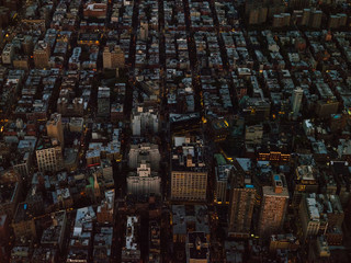 Greenwich Village from above at night.