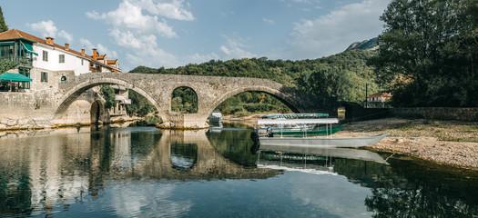 The old bridge in Rijeka Crnojevica- Montenegro