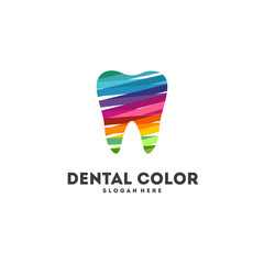 Dental Color designs concept vector, Colorful Toot Logo template icon
