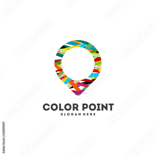 Colorful Travel Agency Logo Designs Abstract Point Logo Template